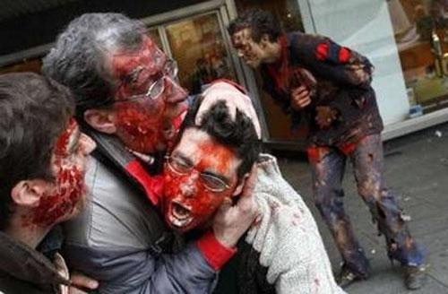 Картинки, Приколы: Зомби в Мадриде (далее 9 фото)