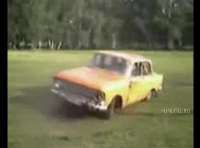 Приколы, Видео: Отжиг на авто