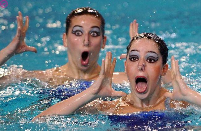 Приколы: Водная гимнастика (14 фото)