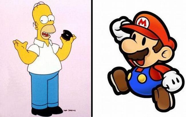 Приколы: Как бы выглядел Гомер Симпсон и Марио, если бы были реальными людьми (2 фото)