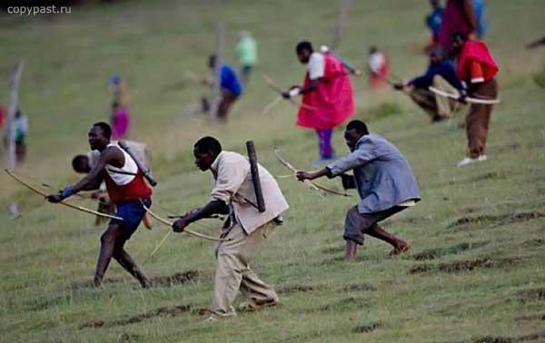 Приколы: Особенности военных действий в Африке (5 фото)