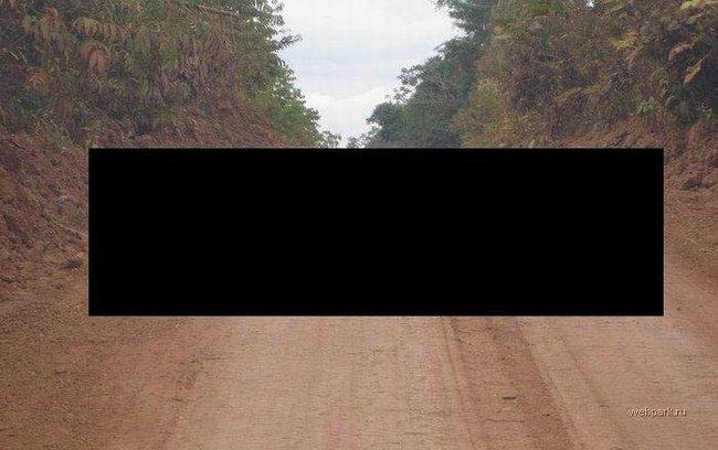 Приколы: Лежачий полицейский в Африке (1 фото)