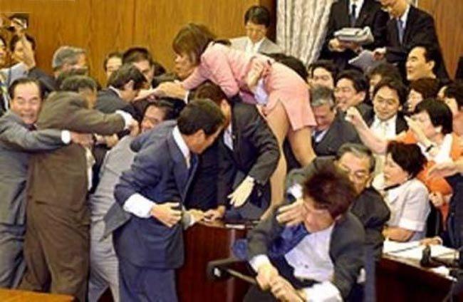 Приколы: Японские депутаты принимают закон (2 фото)