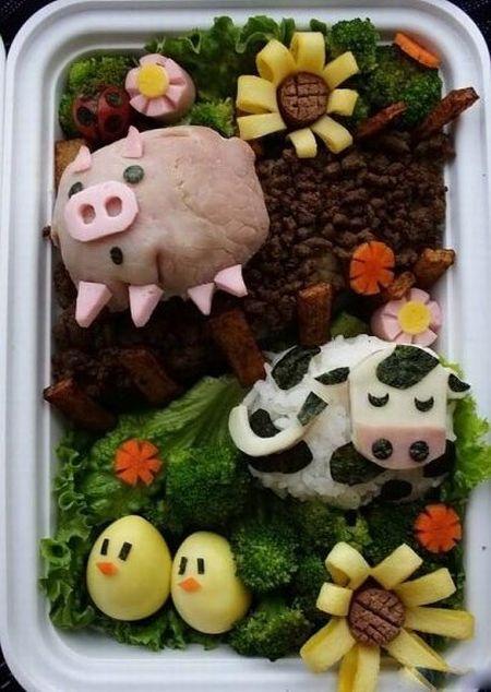 Приколы: Креативные школьные завтраки (10 фото)